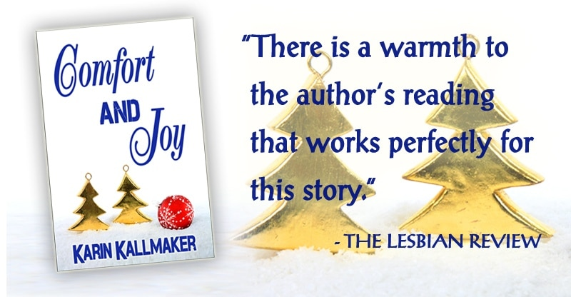 cover Comfort and Joy lesbian review author's reading works perfectly