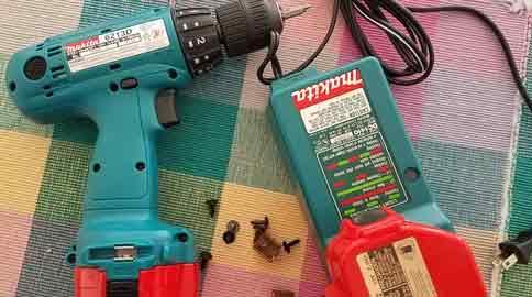 Karin's trusty Makita drill