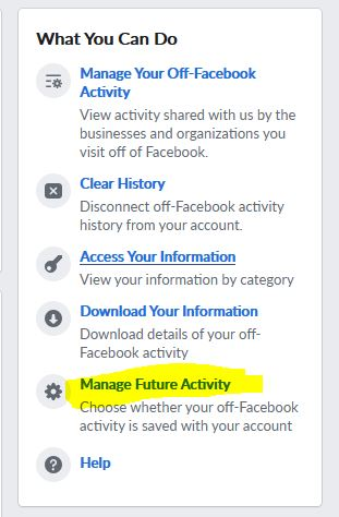 Facebook Off-Facebook Privacy App Manage Future