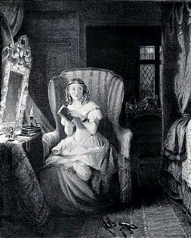 illustration from 1833 edition of Northanger Abbey by Jane Austen
