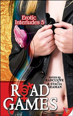 book cover woman leather jacket road games