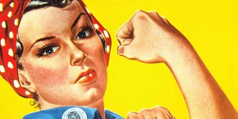 Rosie the Riveter closeup