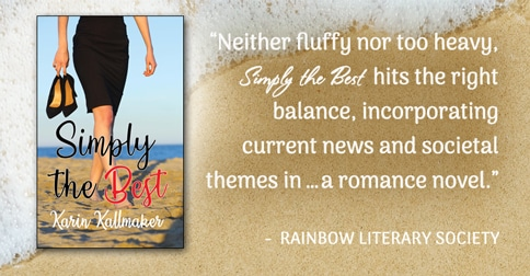 Neither fluffy nor too heavy, Simply The Best hits the right balance, incorporating current news and societal themes in a romance novel.