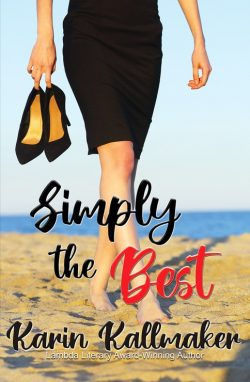 book cover Simply the Best romance woman walking on beach holding high heels