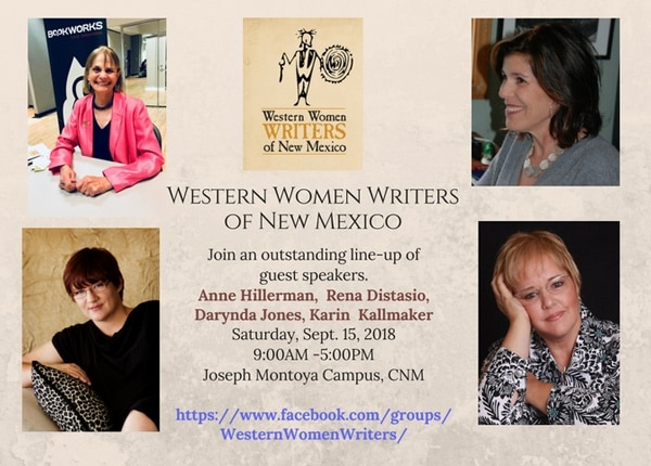 publicity poster for 2018 Western Women Writers of New Mexico annual event