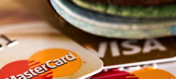 credit cards on desk