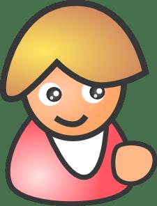 female figure happy