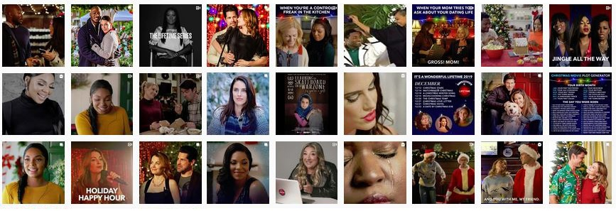 screenshot of Lifetime Channel Instagram one week December 2019