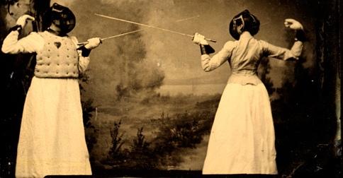 victorian women fencing